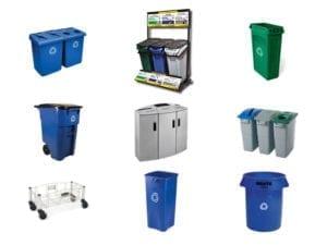 recipientes de plástico